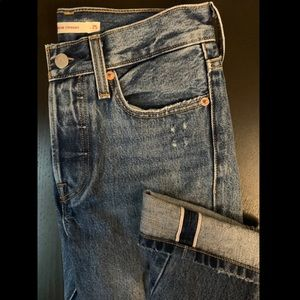Cropped Selvedge Wedgie Fit Levi's